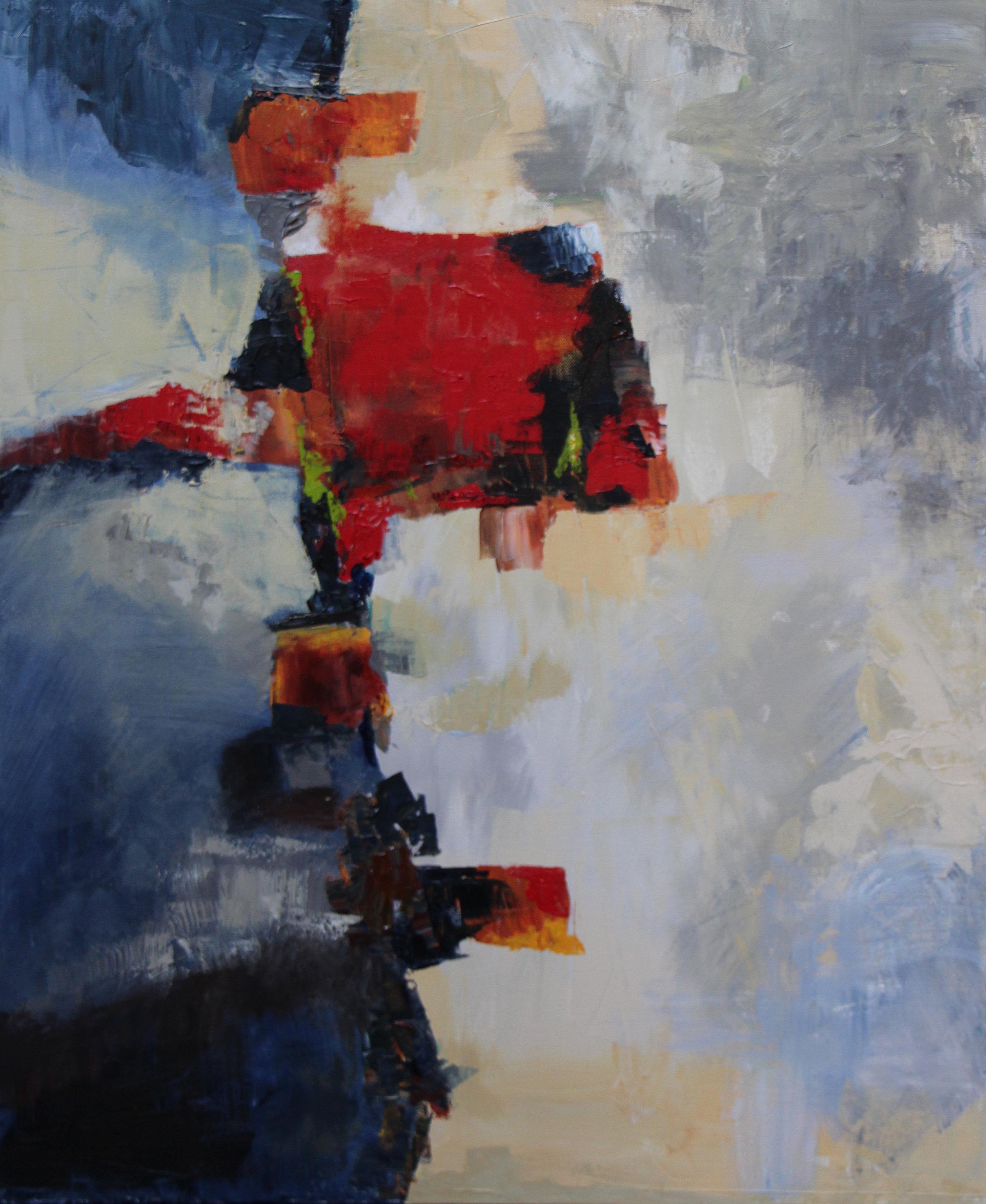 "Locked - Acrylic on canvas26"" x 30"""