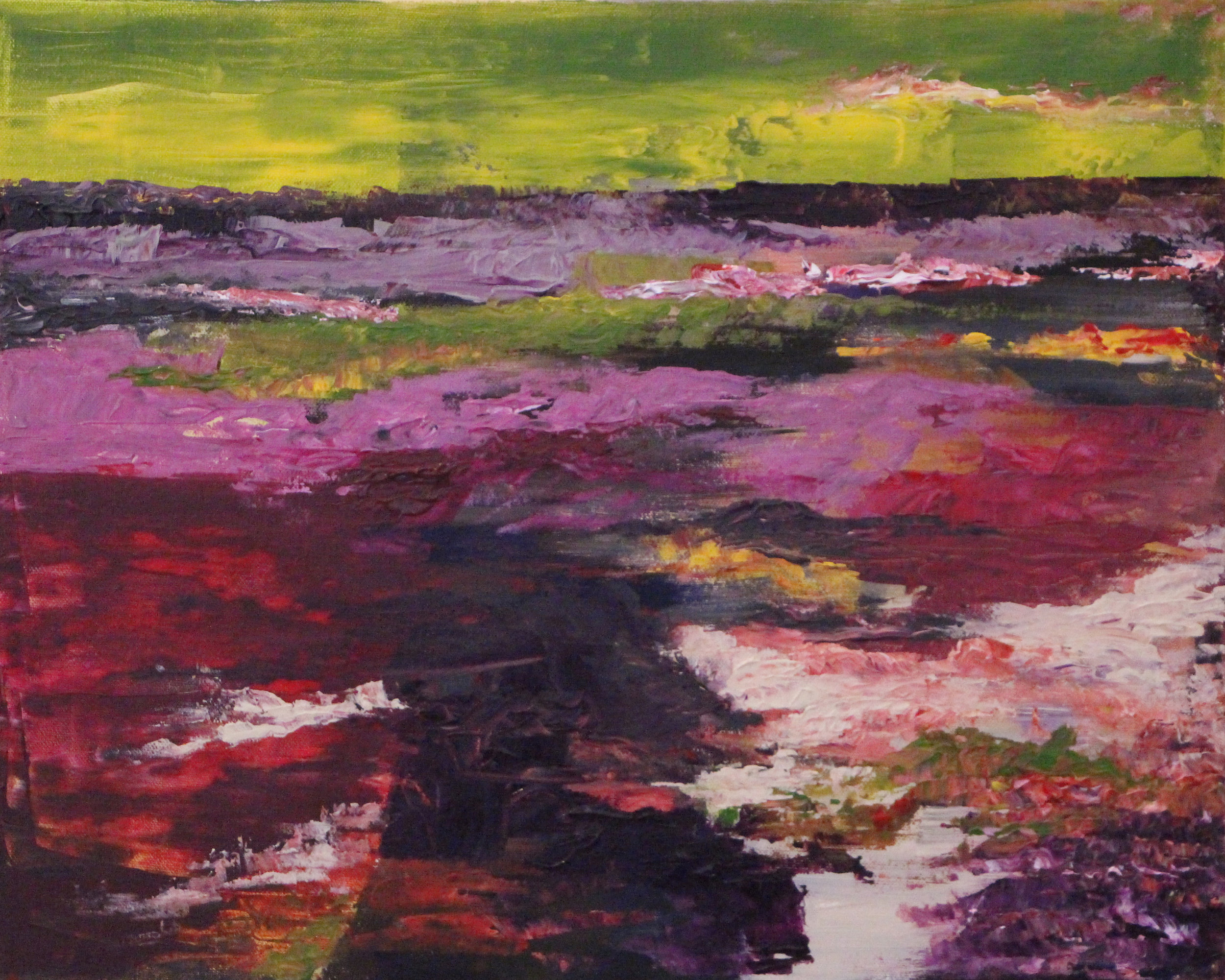 "Rising Tide - Acrylic on canvas18"" x 24"""