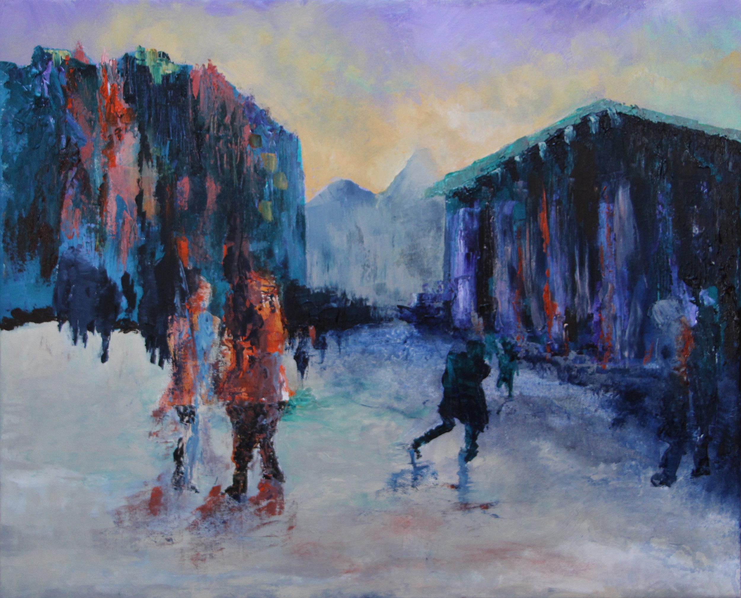 "Amsterdam - Acrylic on canvas28"" x 22"""
