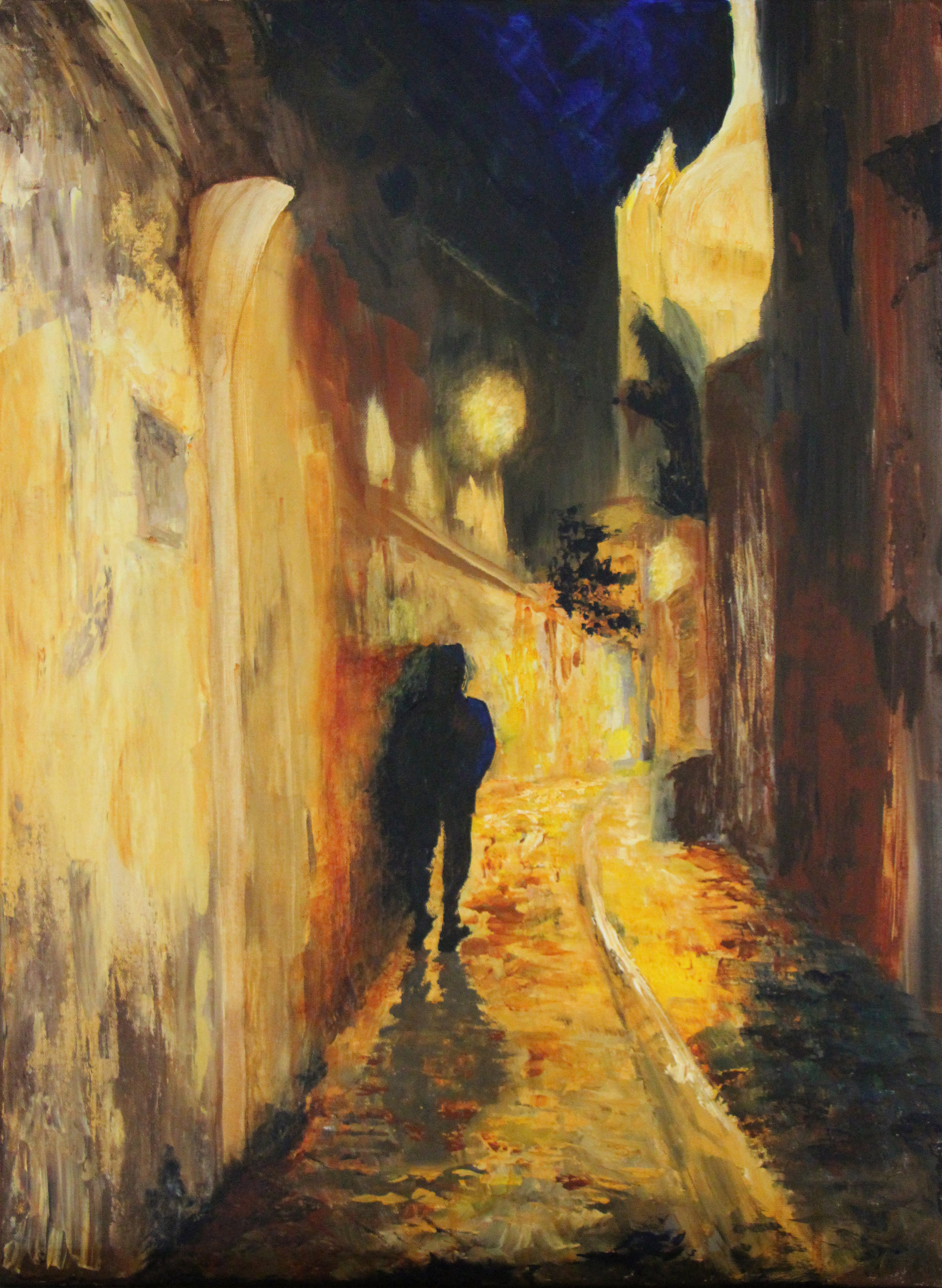 """Montmartre - Acrylic on canvas18"""" x 24""""from a photo by CA Carringtonprivate collection"""