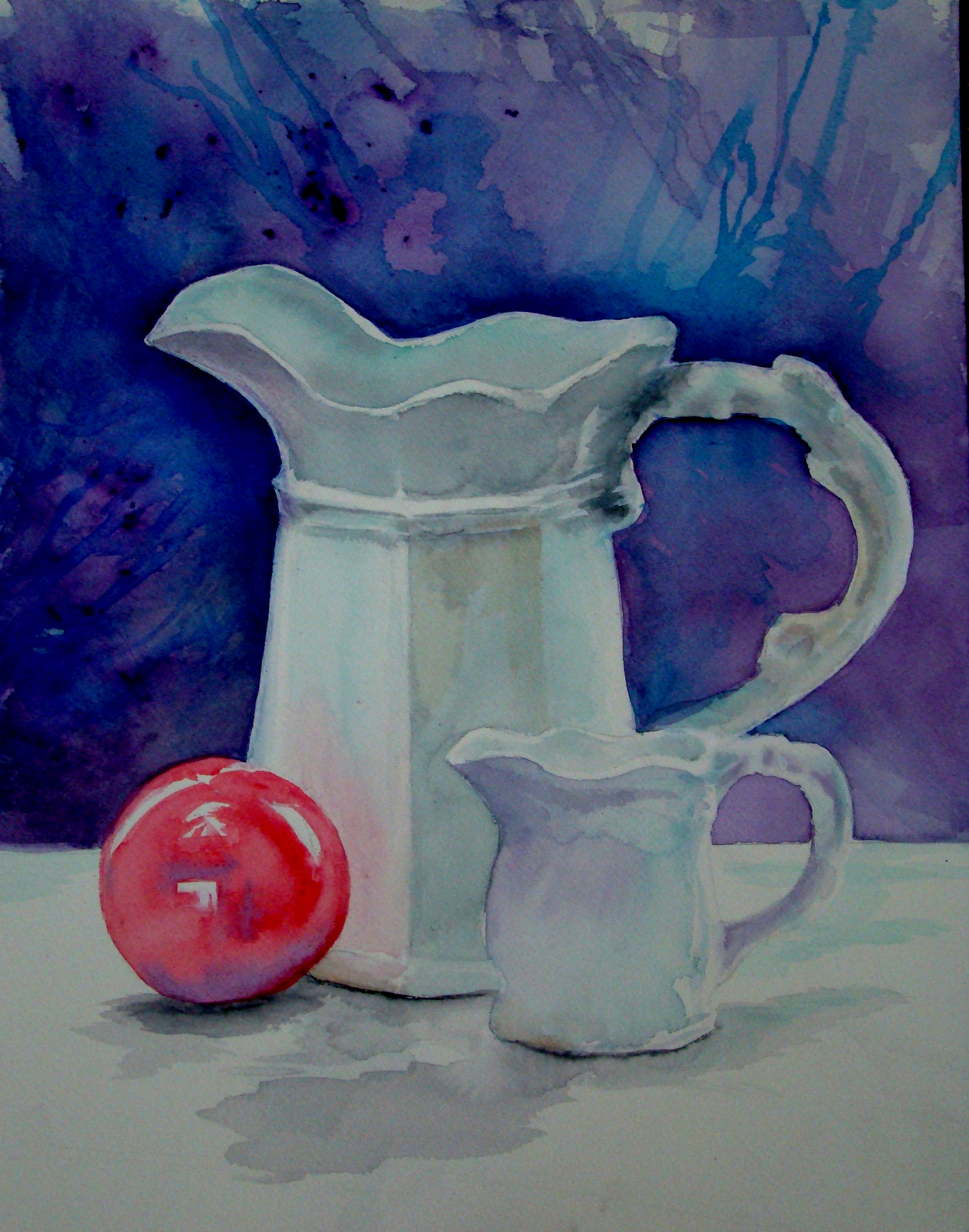 "White pitcher - Watercolor on paper16"" x 20"""