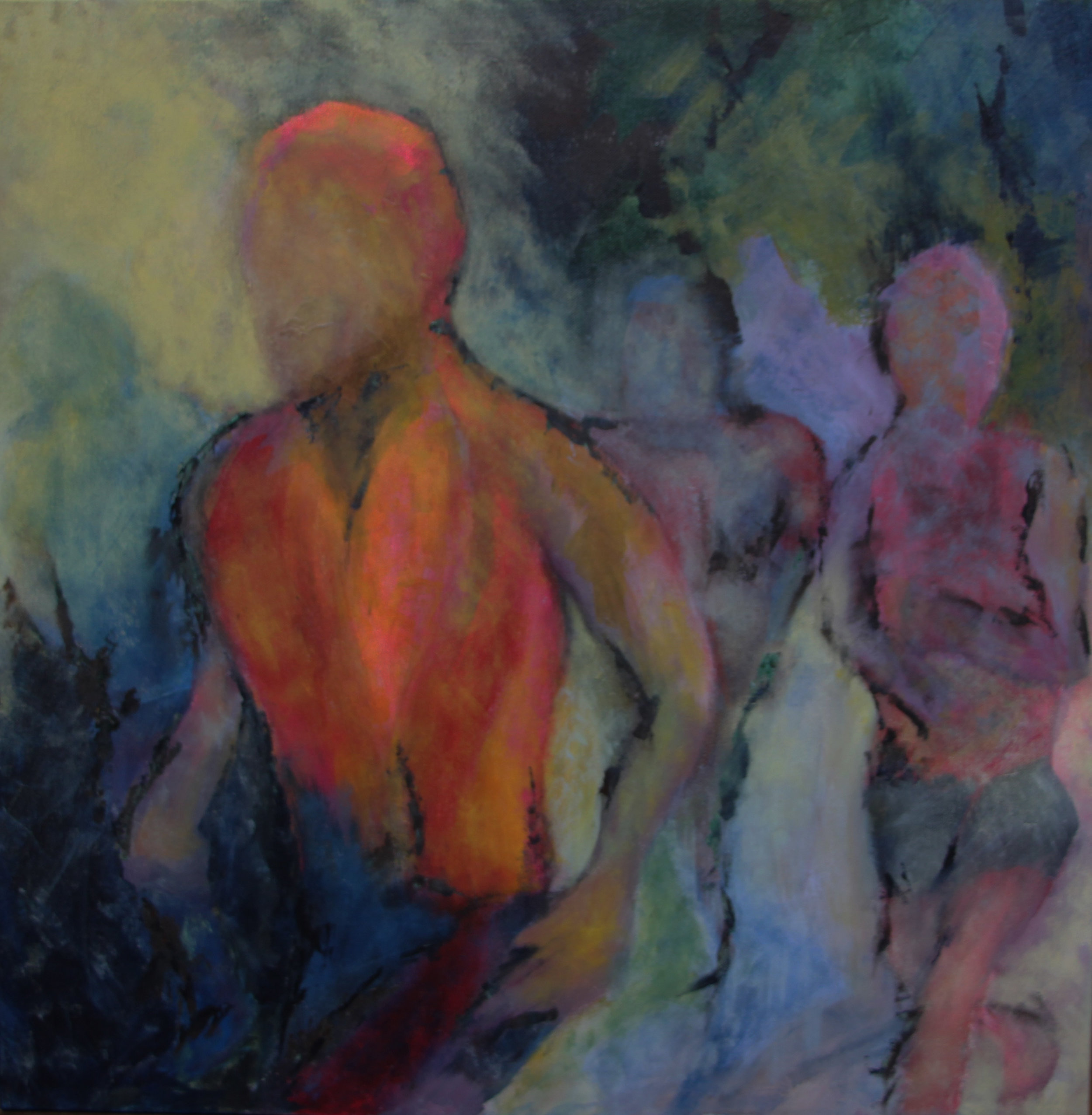 "cotton row run - Acrylic on canvas24"" x 24""Private collection"