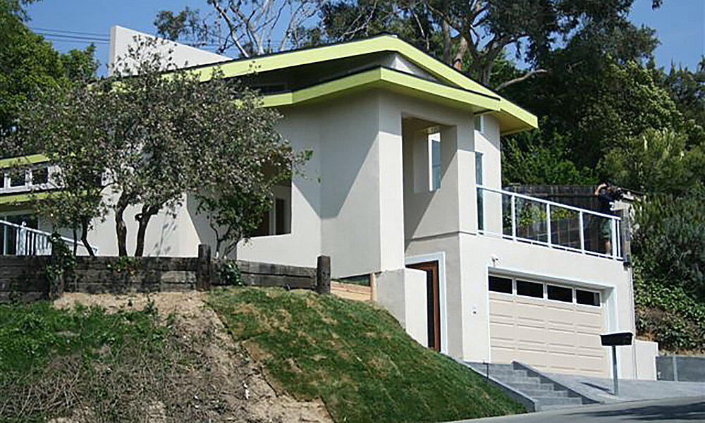 Tiu Residence - Pasadena, CAStructural design on a two story residential remodel. Standard wood construction with engineered joists at flat roof and floor. CMU retaining walls at lower level. Featured on the HGTV television program