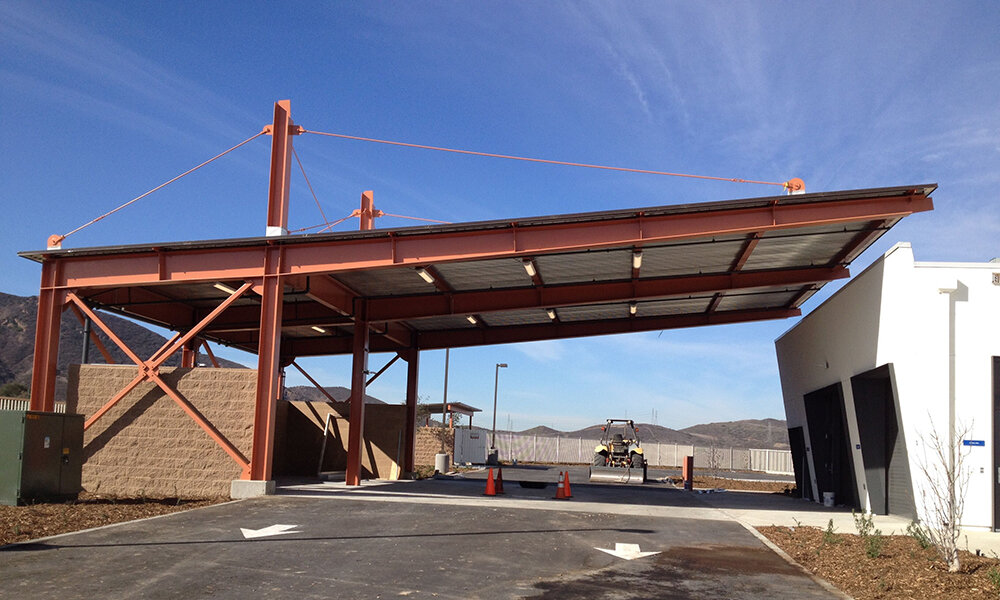Thousand Oaks Municipal Service Center - Thousand Oaks, CAStructural design of this new structural steel frame and metal deck building, and a masonry building with wood roof.