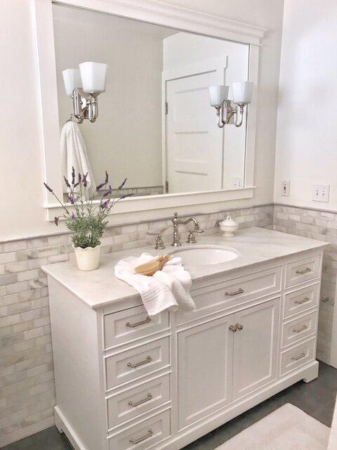 Diy Bathroom Mirror With Lights Interior Redoux