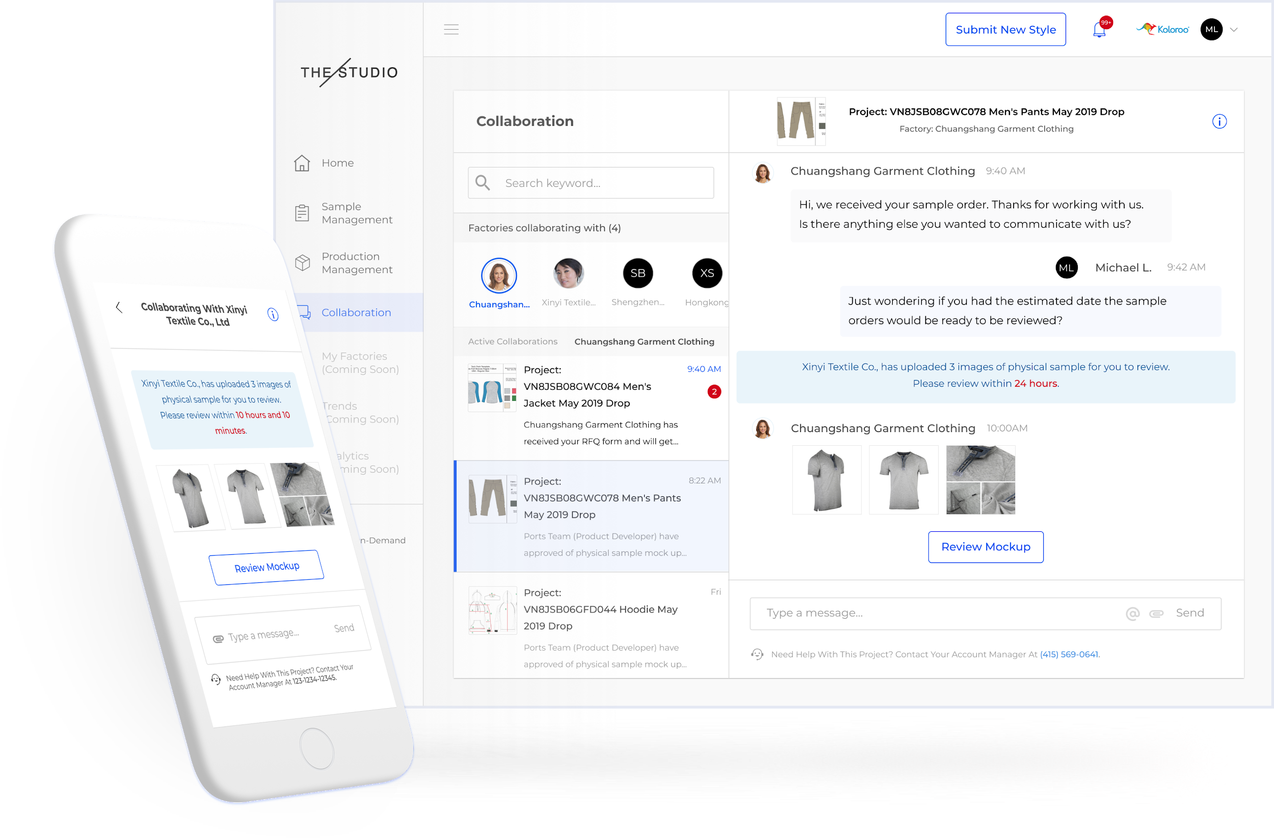Easy Collaboration - Collaborate asynchronously with everyone on your value chain. Say goodbye to the endless emails, text messages, and spreadsheets that come with traditional factory management.
