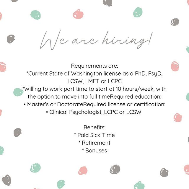 Are you licensed in the State of Washington and looking for a job?  Please submit your Resume/CV to acharles@mydragonflycounseling.com.  We are located in Clarkston, WA. #clinicalsocialworker #clinicalsocialworkjobs #psychotherapistjobs #licsw #licswjobs #licswcareers #lcpc #lcpcjobs #lcpccareers #licensedclinicaclprofessionalcounselorjobs #counselor #counselingjobs #counselingcareers #lmhc #lmhcjobs #lmhccareers