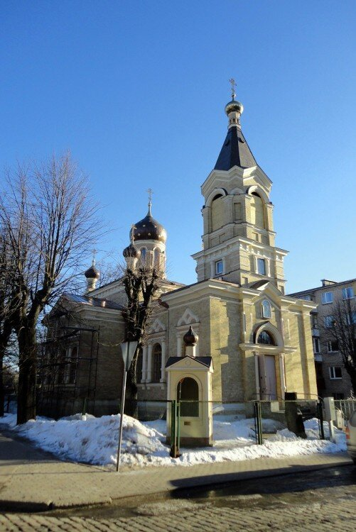 The Riga edinoverie church of Archangel Michael: this church was constructed in 1895-96 following the closure of Emelianov's wooden church due to dilapidation.