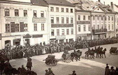 German army parade in Tartu, 1918