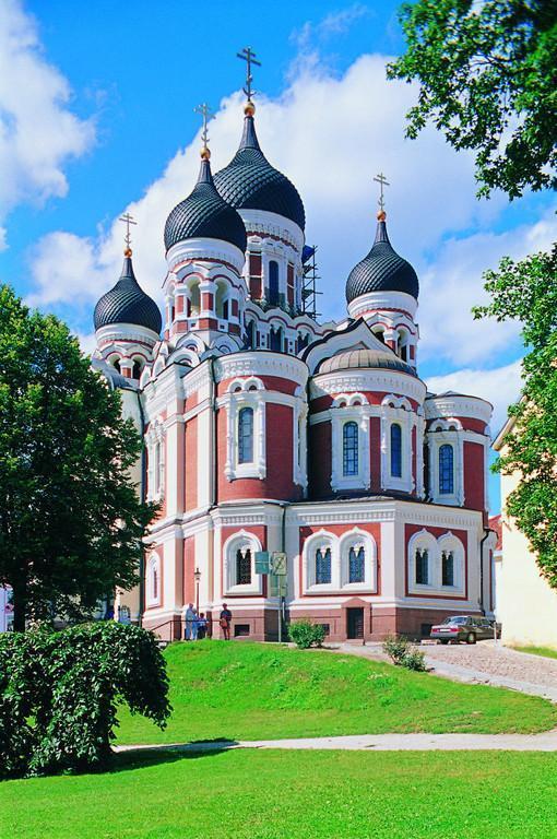 The Aleksandr Nevskii cathedral in Tallinn