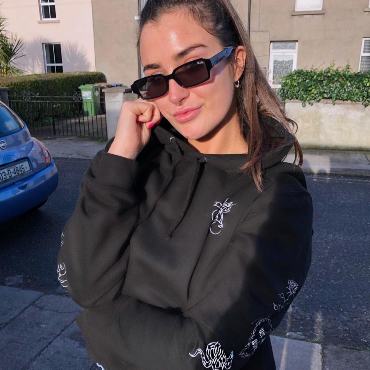 wet and woke hoodie in black