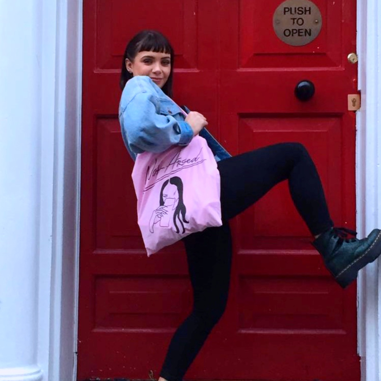 NOT ARSED TOTE - PINK