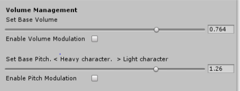 The modules can be activated/de-activated from the inspector, when activated a new slider appears allowing you to set the amount of random modulation.