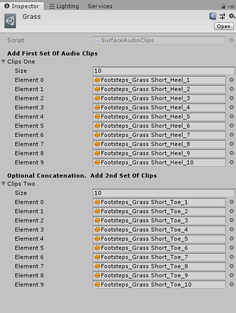 The above audio clips can be easily replaced by dragging your own clips into the element slots.