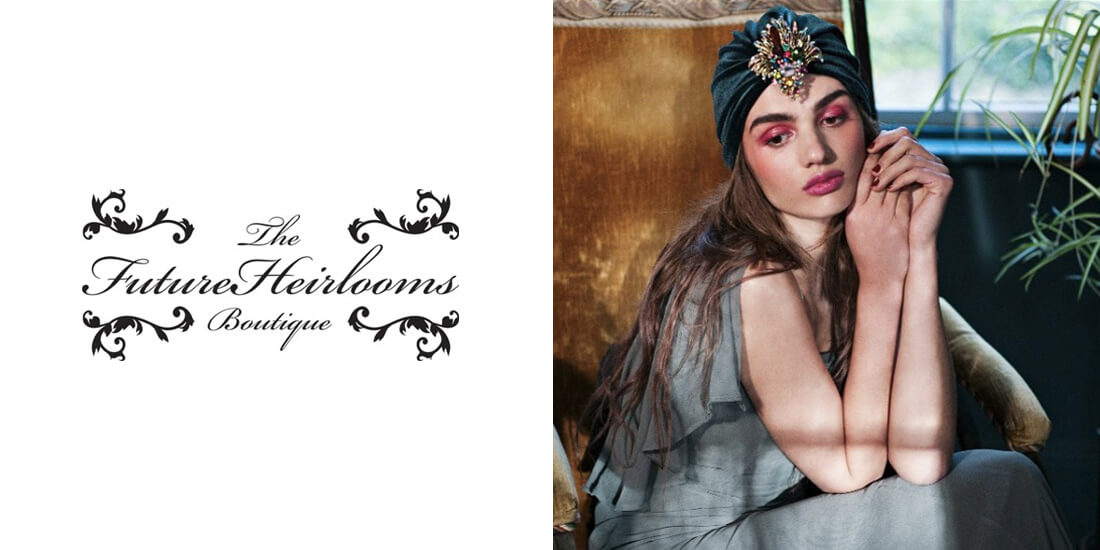 Future Heirlooms - Accessories inspired by times gone by. Infusing today's fashion with the style and elegance of bygone eras, limited edition and bespoke pieces combine contemporary design with antique class.Femininity unites with edge in exotic opulence, the fleeting with the eternal; through pieces that balance what is current with the nostalgia of golden times. In drawing inspiration from decadent eras and trends of the past, through experimenting and reworking vintage prints, colours, shapes and embellishments; pieces entice the wearer to indulge in the theatrics of fashion.Celebrating all femininity, items transcend the decades that inspire them and place the power and aesthetic in the woman who wears them.www.thefutureheirloomsboutique.com