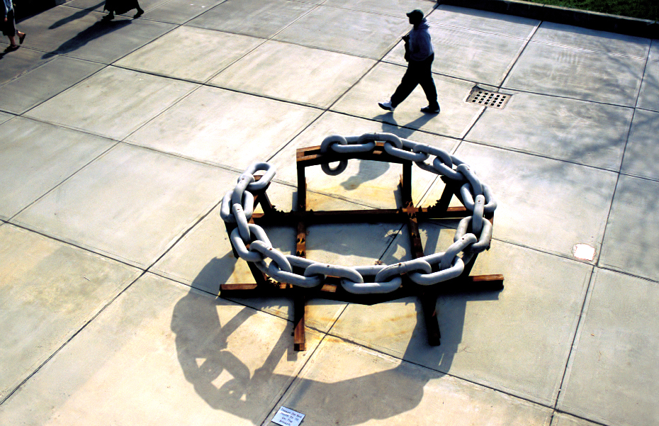 "22 Links , 2003–2004 Cement + Structural Steel, 30.5"" x 128""dia   Open(ed) Spaces , Hudson Valley Community College"