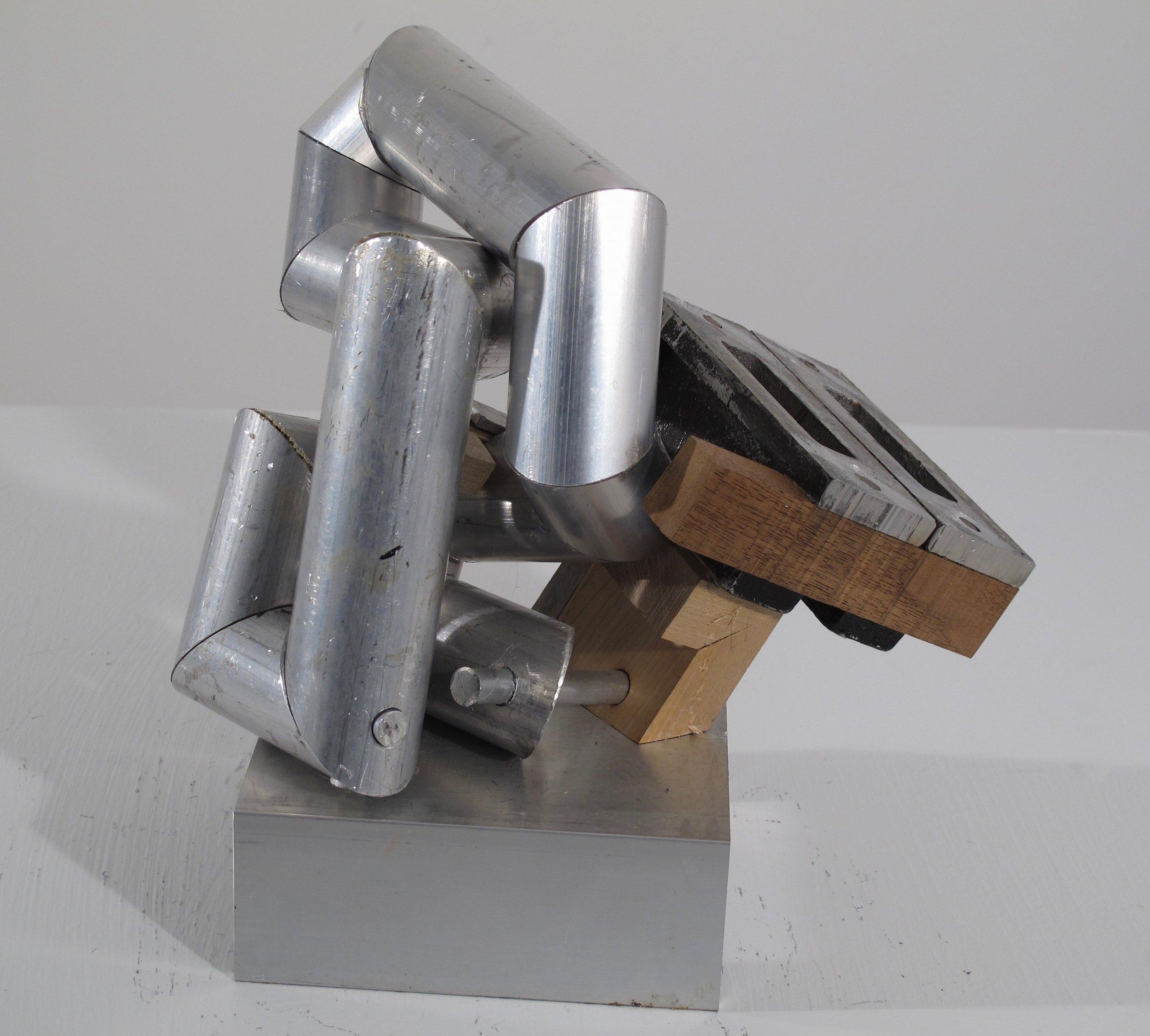 """Maquette 7 , 2019   aluminum + wood 9.5"""" x 7"""" x 9.5"""""""