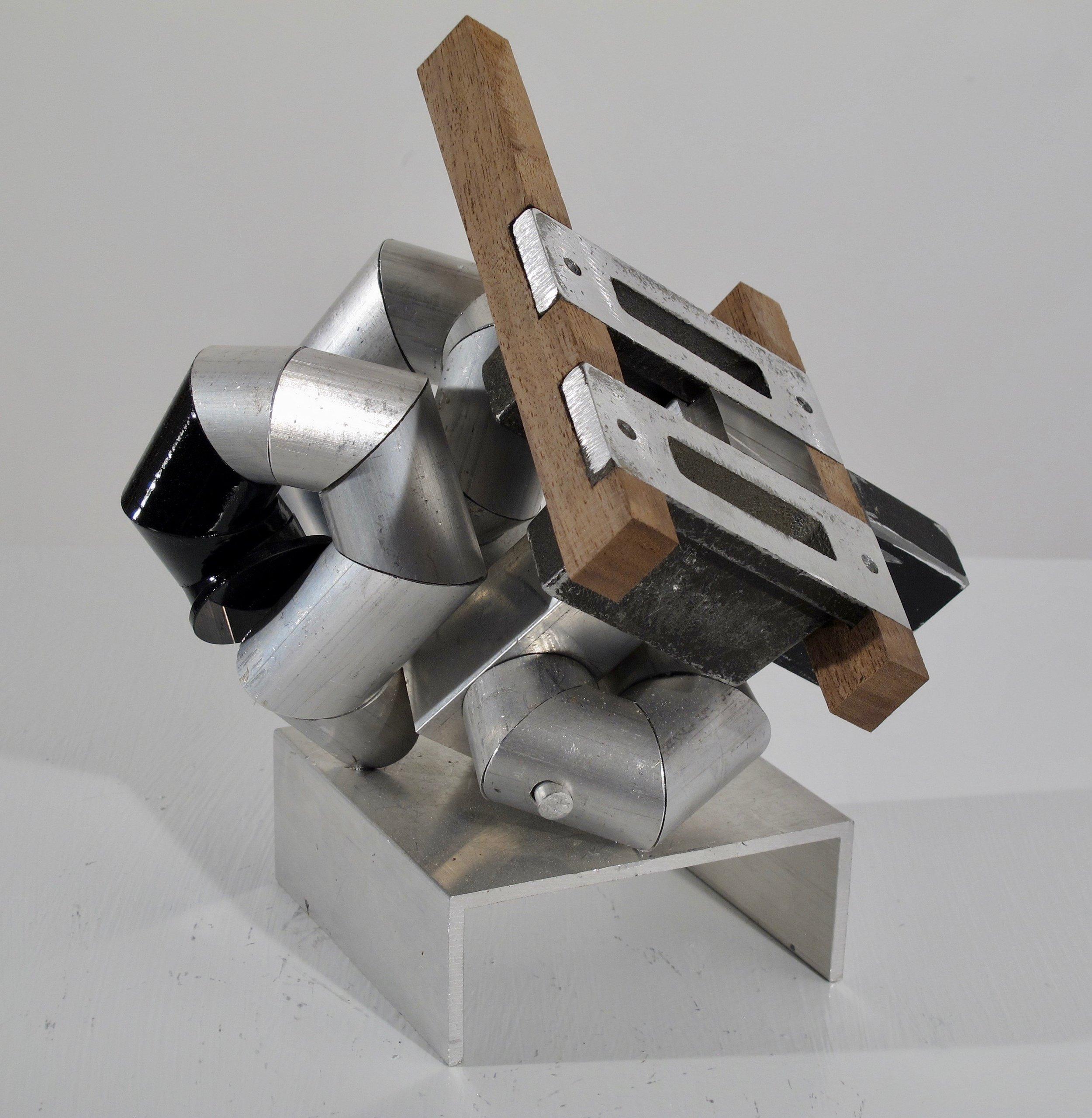 """Maquette 11 , 2019 aluminum + wood 10.5"""" x 9.5"""" x 8"""""""