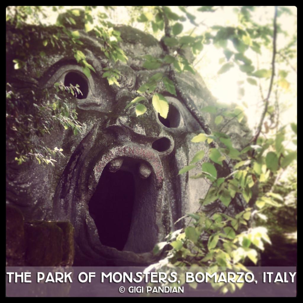 Italy-Bomarzo-monster-side-square-Instagram-Gigi-Pandian-text