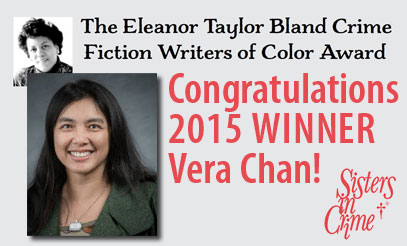 This year's  Eleanor Taylor Bland Crime Fiction Writers of Color Award  winner, Vera Chan, was introduced at the Sisters in Crime breakfast. One of my roles on the SinC board is to facilitate this fantastic award, which is now a yearly $1,500 grant, so let me know if you have any questions about it!