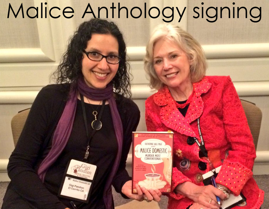 With Kathryn Leigh Scott at the anthology signing.