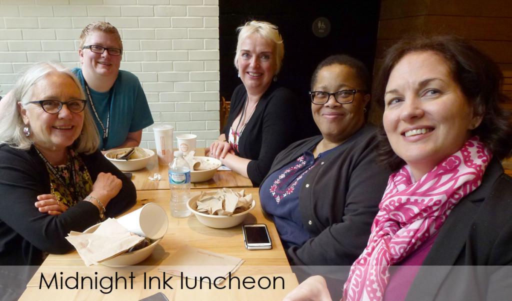 Edith Maxwell, Terri Bischoff, Catriona McPherson, Dru Ann Love, Aimee Hix.