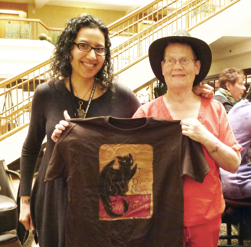P.J. Coldren brought me a t-shirt, because the image reminded her of Dorian the gargoyle from my Accidental Alchemist mysteries.