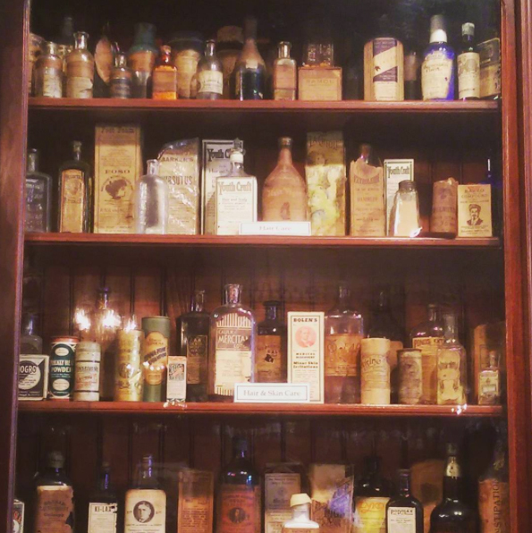 Apothecary wares from the 1800s at the New Orleans Pharmacy Museum.