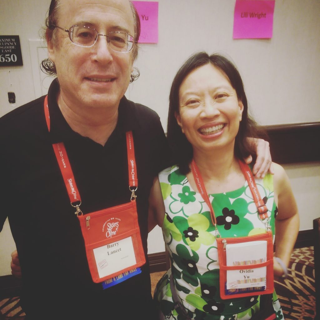 International authors: Barry Lancet (Jim Brodie thrillers based in Japan) and Ovidia Yu (playwright and novelist from Singapore).