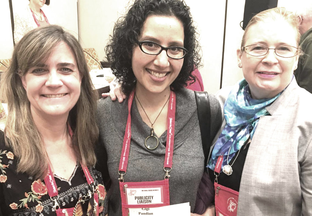 With fellow panelist Susan Spann (who writes the Shinobi mystery series) and Stacy Allen (who writes underwater archaeology thrillers).