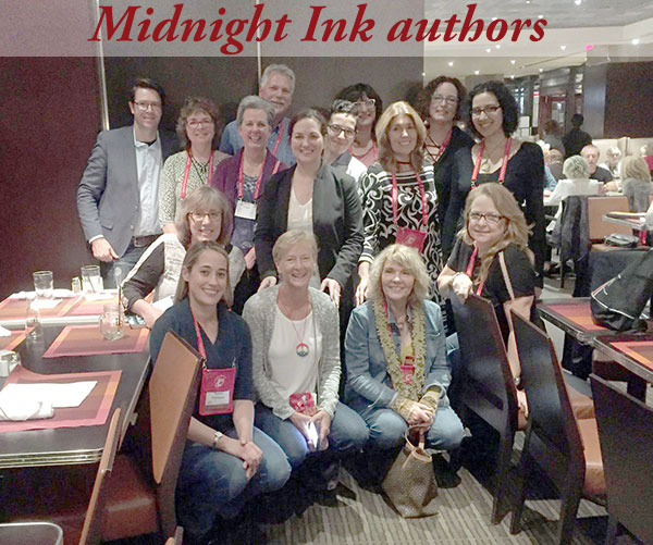 One of two publisher gatherings. (Alas, I didn't get a picture of the Henery Press group.) A highlight of the Midnight Ink get-together was getting to know debut author Lissa Marie Redmond, whose first novel comes out in February.
