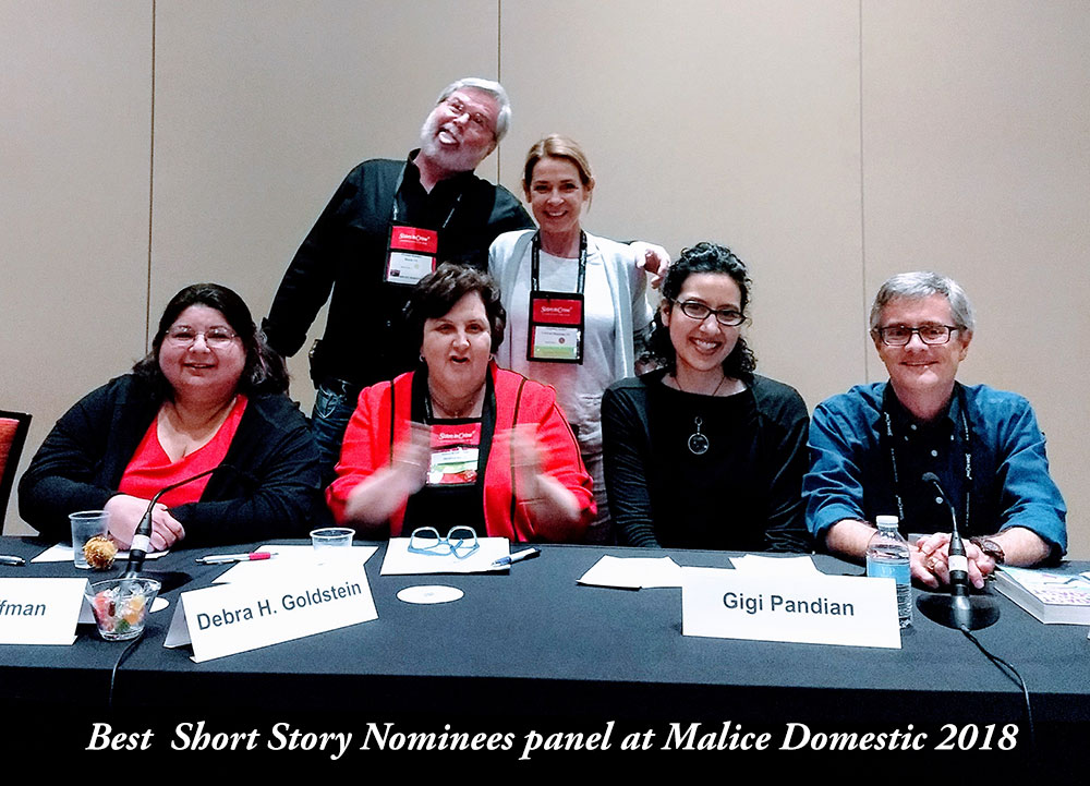 On the first full day of the conference, this was a terrific panel with my fellow Best Short Story nominees, Barb Goffman, Debra Goldstein, Gretchen Archer, and Art Taylor! And thanks to Michael Bracken for leading the discussion in interesting directions.