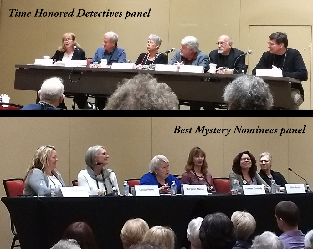 Attending panels on a range of topics, from Golden Age detective fiction to the best in modern mystery.
