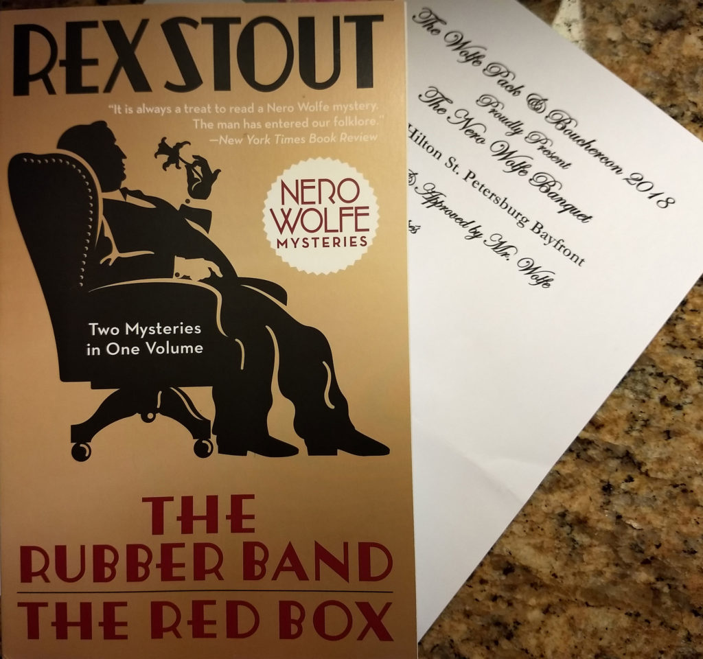 I attended the Nero Wolfe Banquet for the first time, and it was such fun! I was skeptical at first when told there would be singing, but it was a blast.