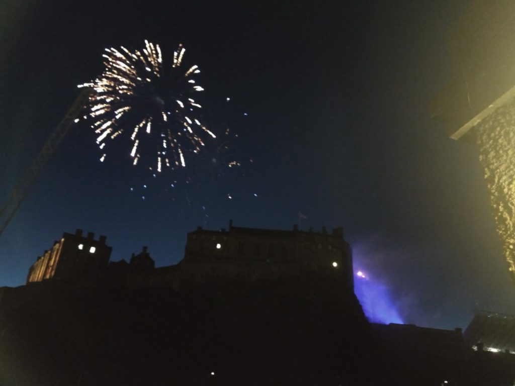 A view from the flat: Fireworks above the castle.