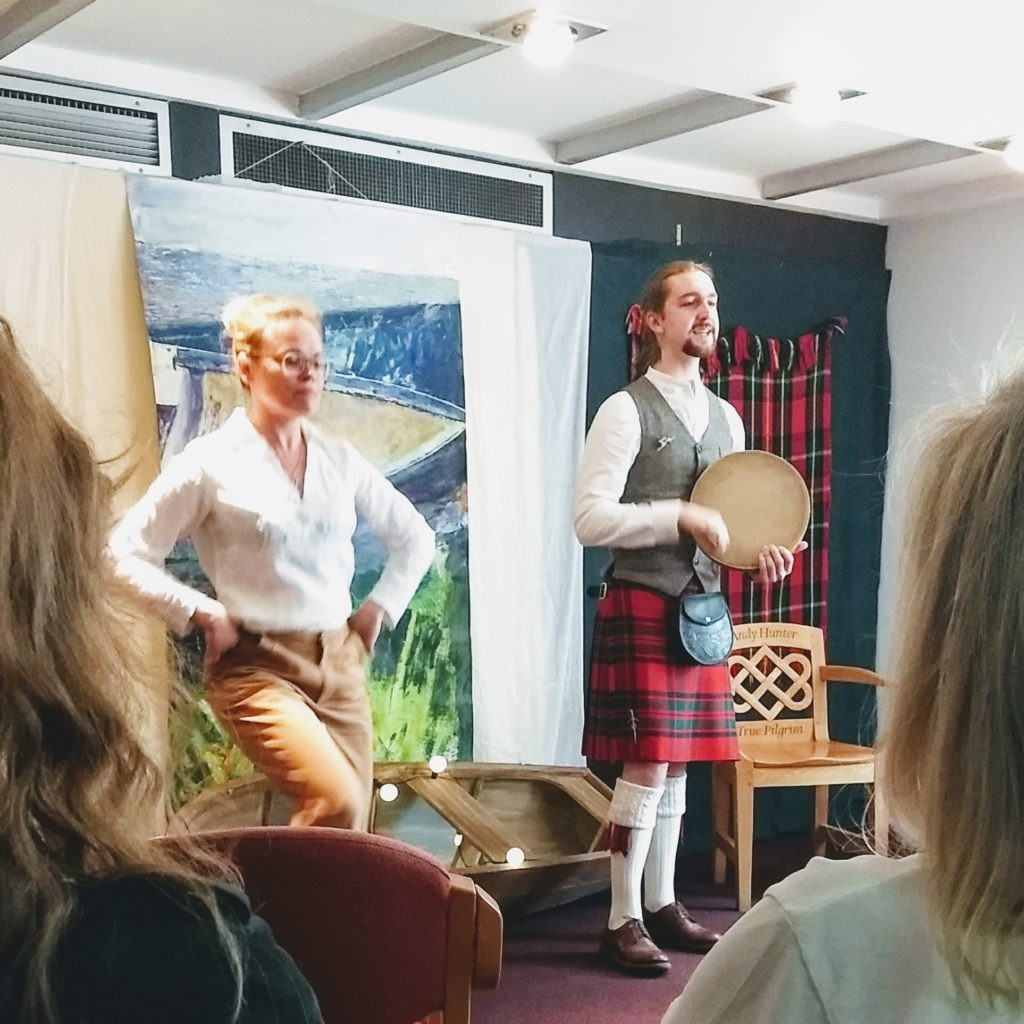 One of many events at the Scottish Storytelling Centre. I attended several performances and workshops here, doing research for the novel.