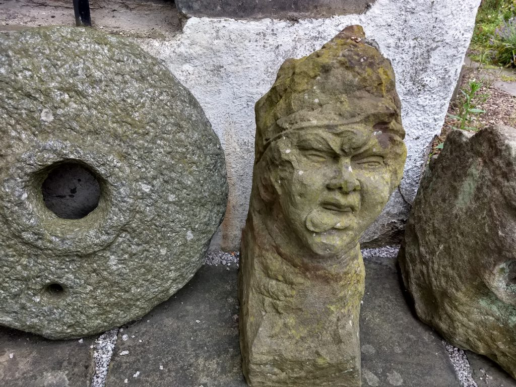A few of the rescued stone carvings.