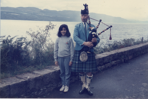 Me at age 10 on my first trip to Scotland.