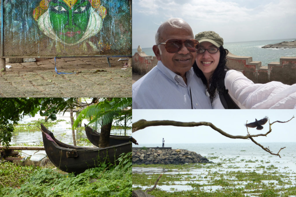 On one of my trips to India with my dad. He's from south India, and the photos above were taken in Kerala and Cochin.