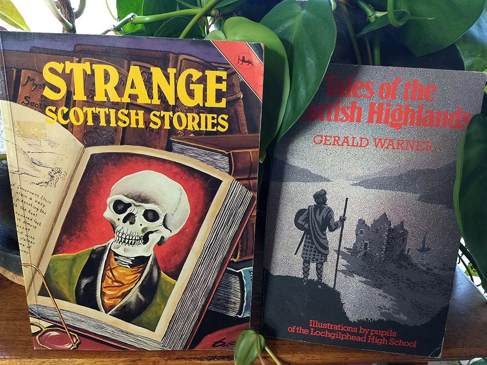 Two of the Scottish ghost story collections I read as a kid. They helped shape the spooky overtones and folklore I wrote into  Artifact .