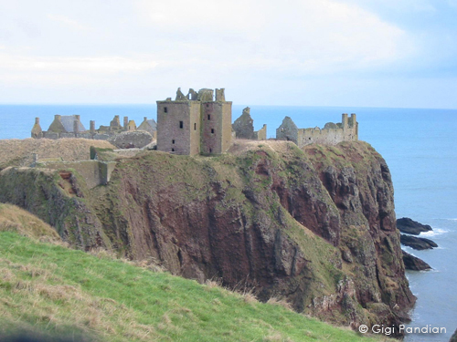 Dunnottar Castle, near the archaeological dig in  Artifact .