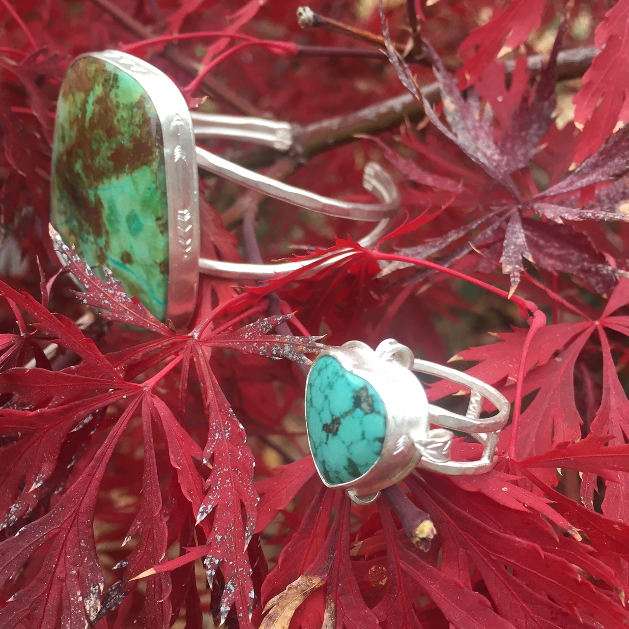 turquoise cuff $220.00 and ring $140.00