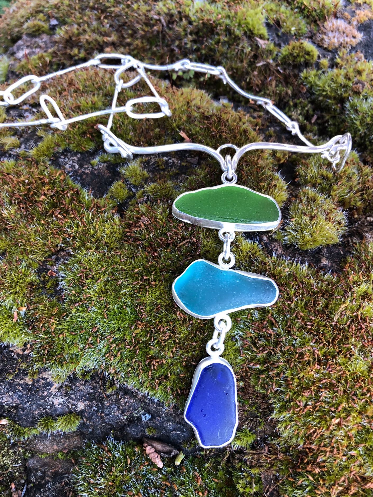 sea glass necklace $300.00