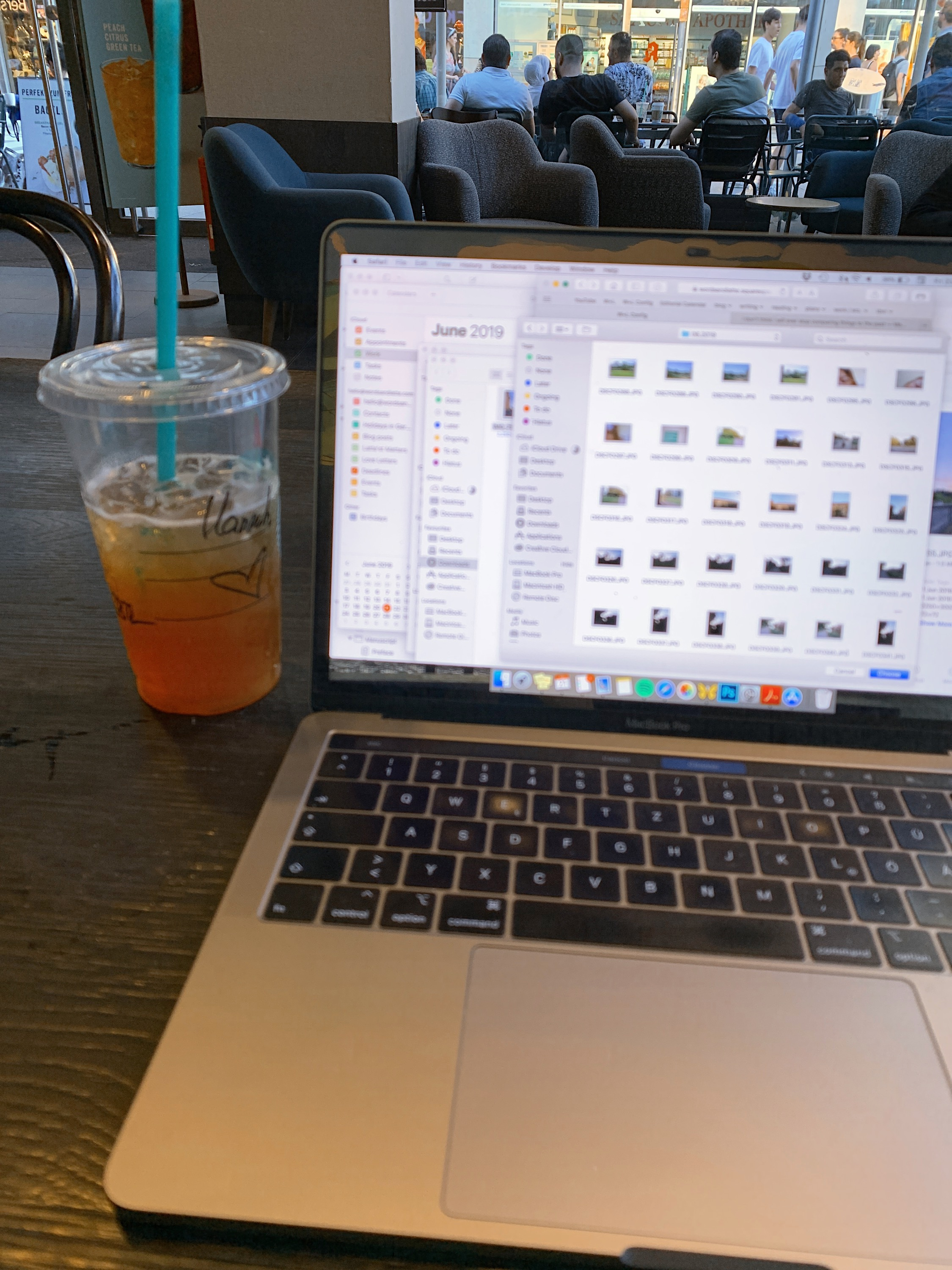 … and a lot of writing and iced drinks to flee the scorching hot weather