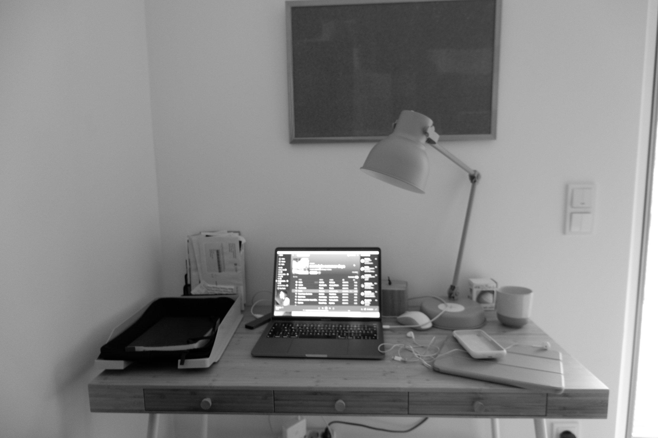 the new desk