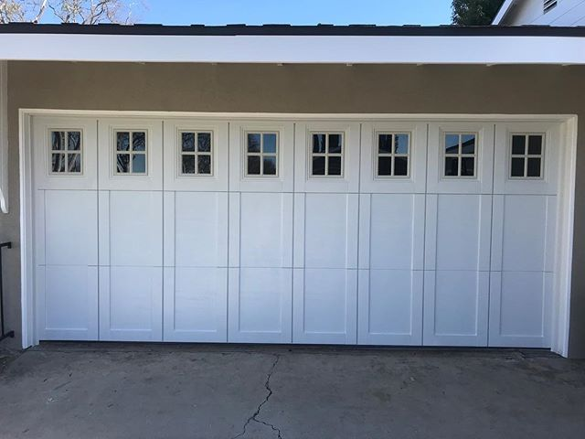 New project in Fullerton steel house insulated door with Liftmaster 3/4 hp #garagedoors #garagerepair #fullerton #homedesign
