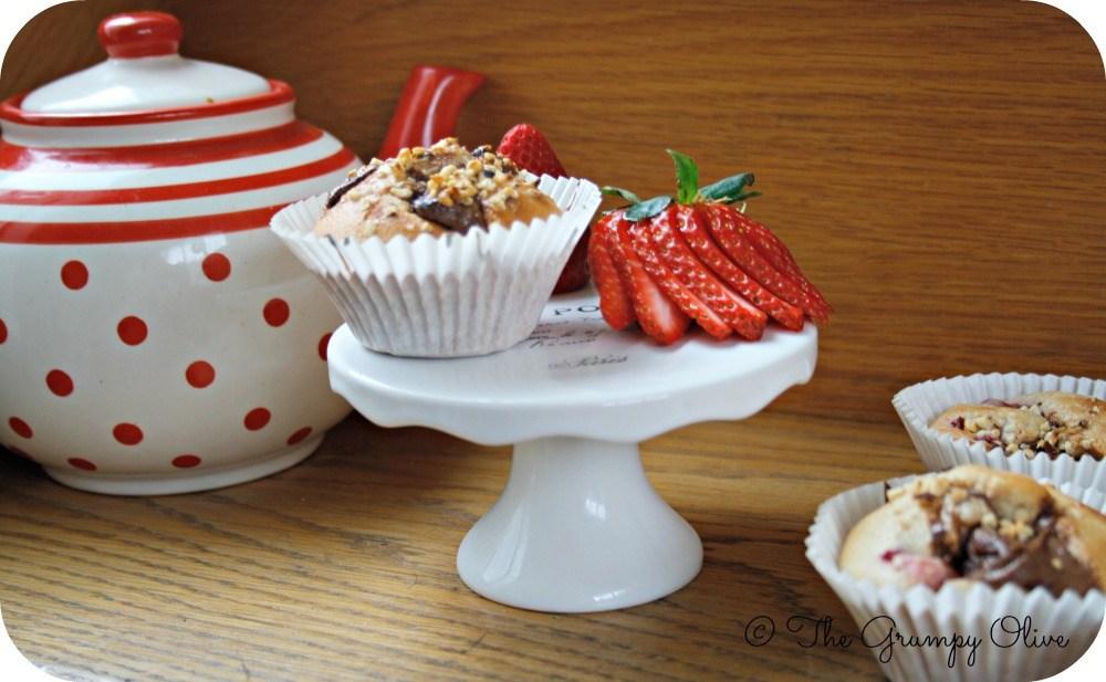 Nutella & Strawberry Muffins