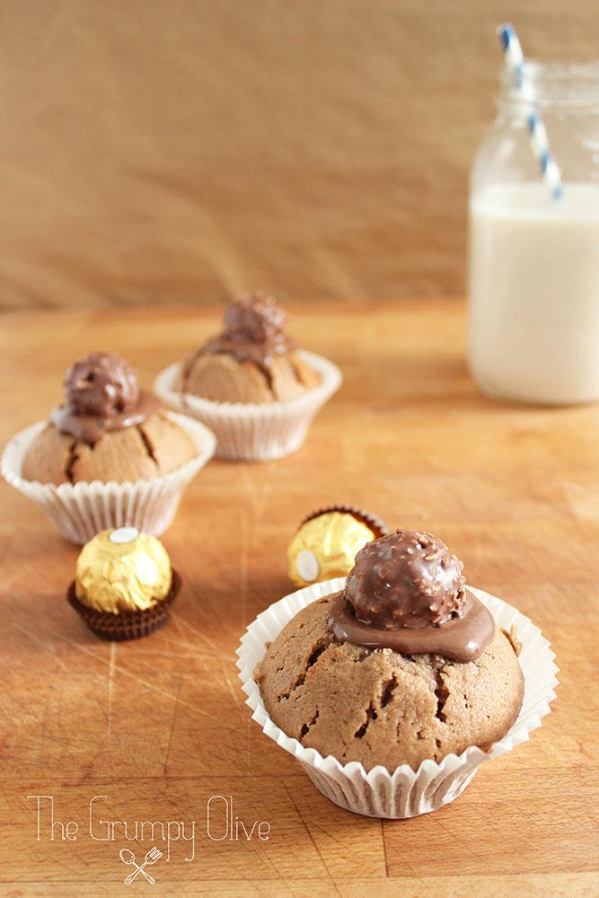 Ferrero Rocher & Nutella Cupcakes