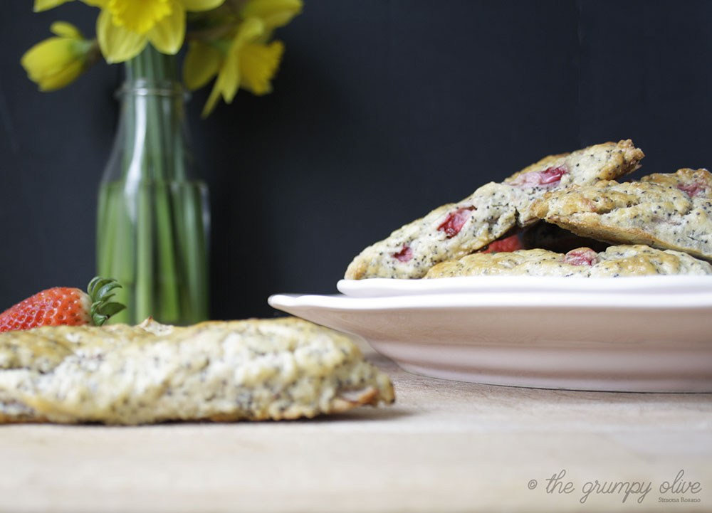 Strawberry, Poppy Seed & Ginger Scones