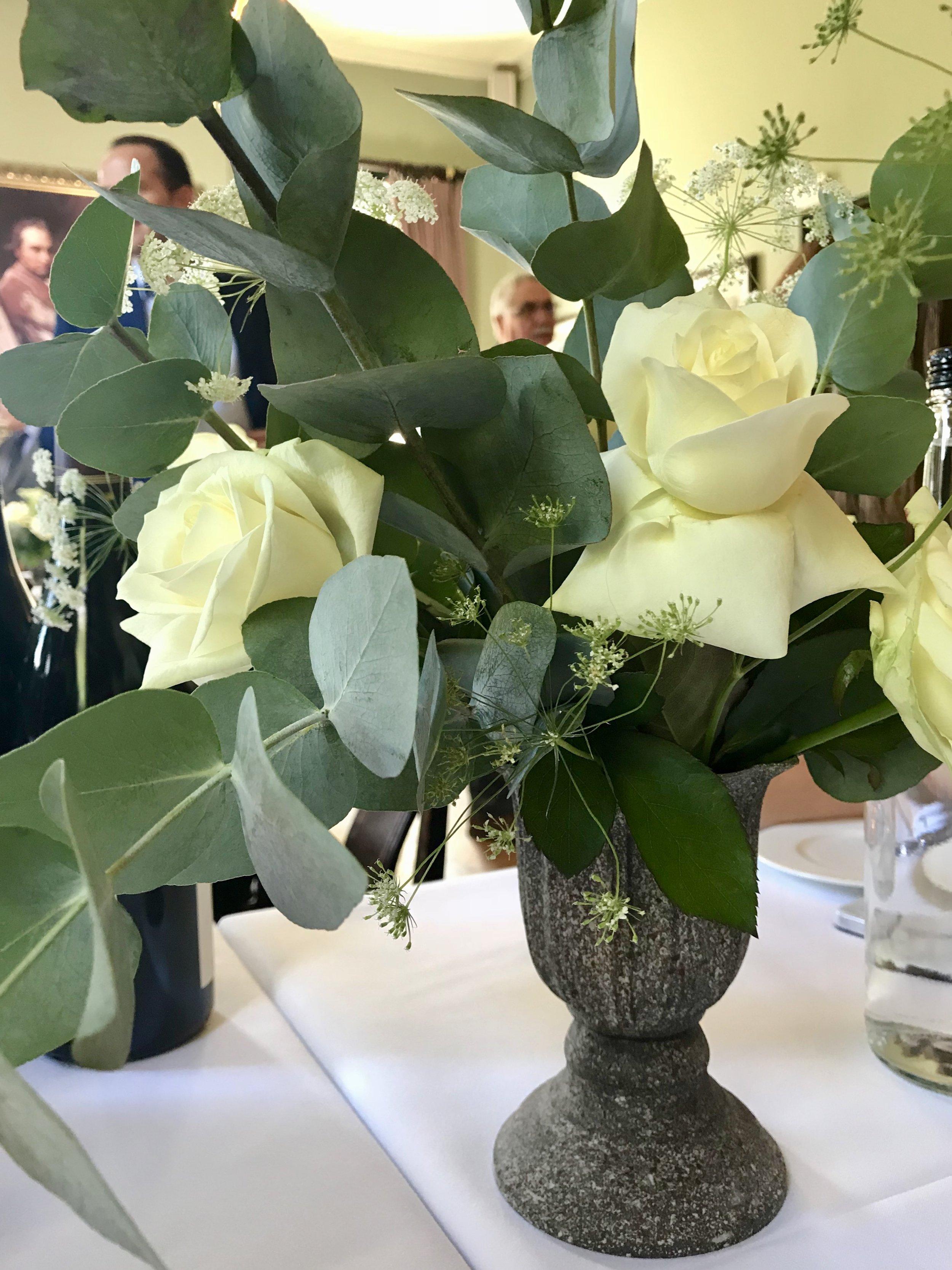 a wedding - flower details